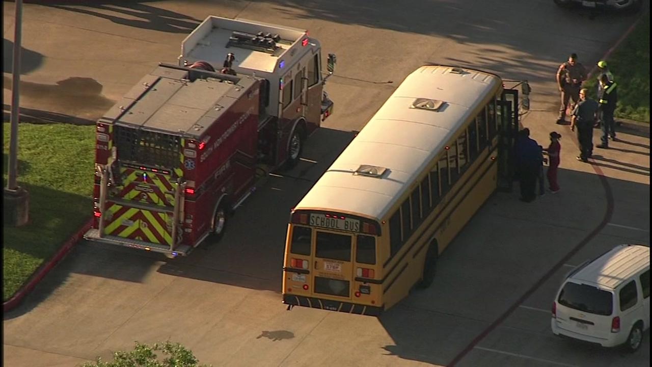 Conroe ISD school bus involved in accident