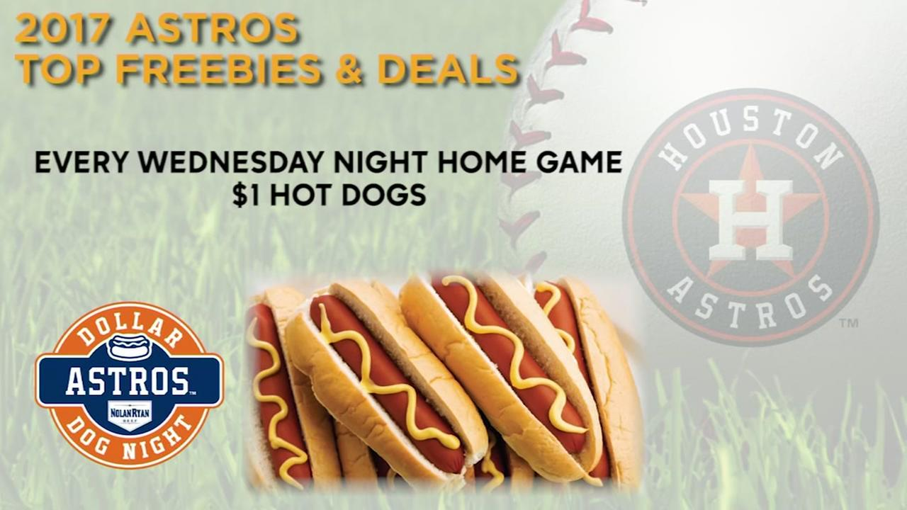 Take a look at some top freebies and deals at Astros games this year