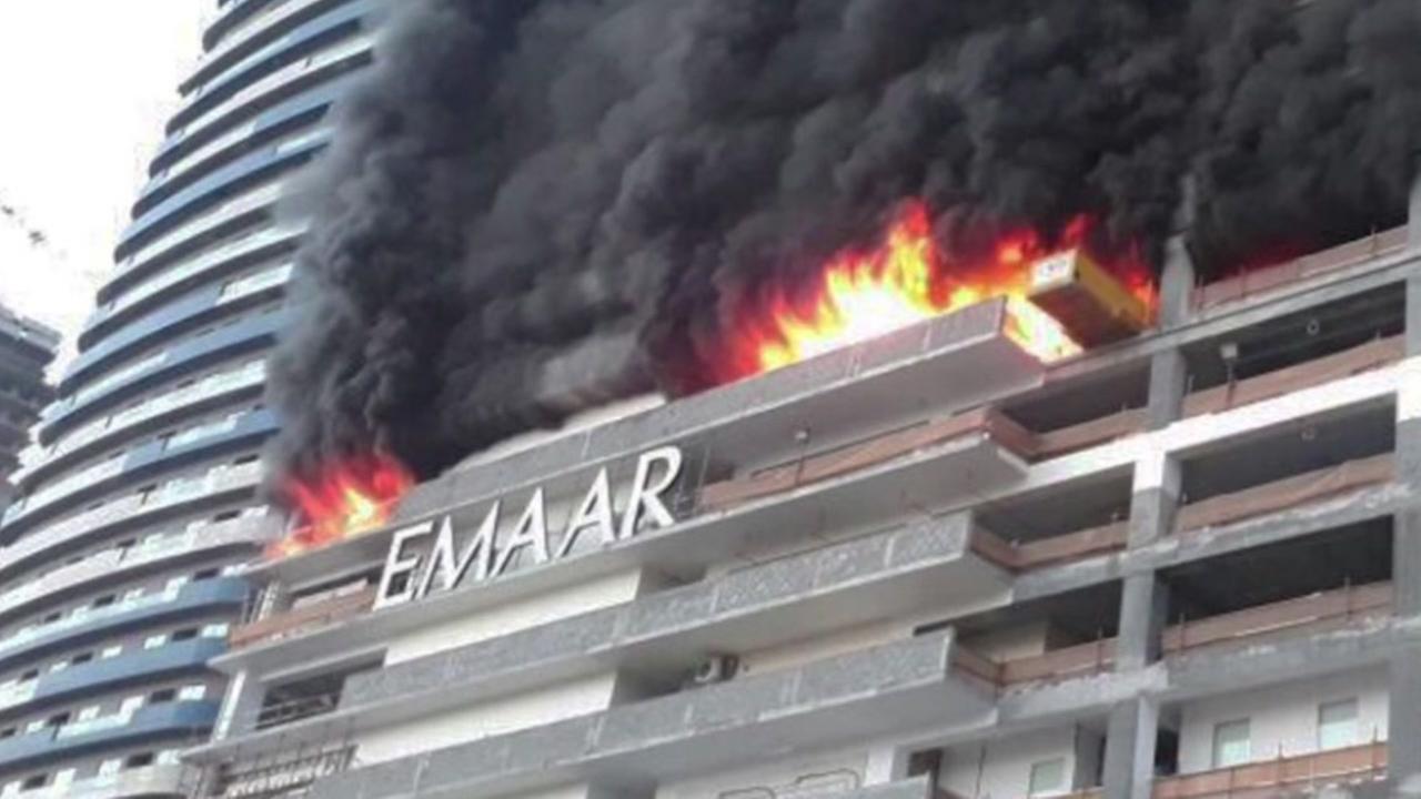 Dubai high-rise building erupts in flames