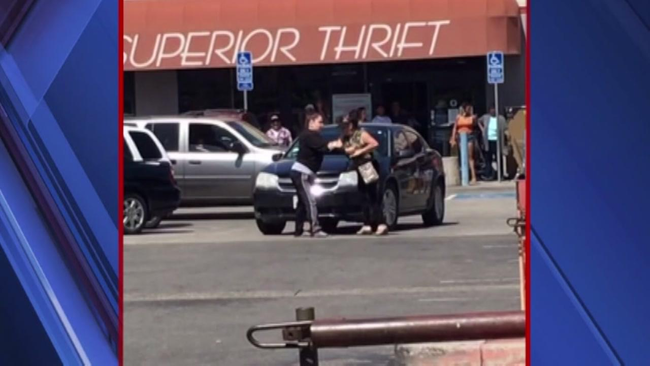 Violent parking lot fight caught on camera