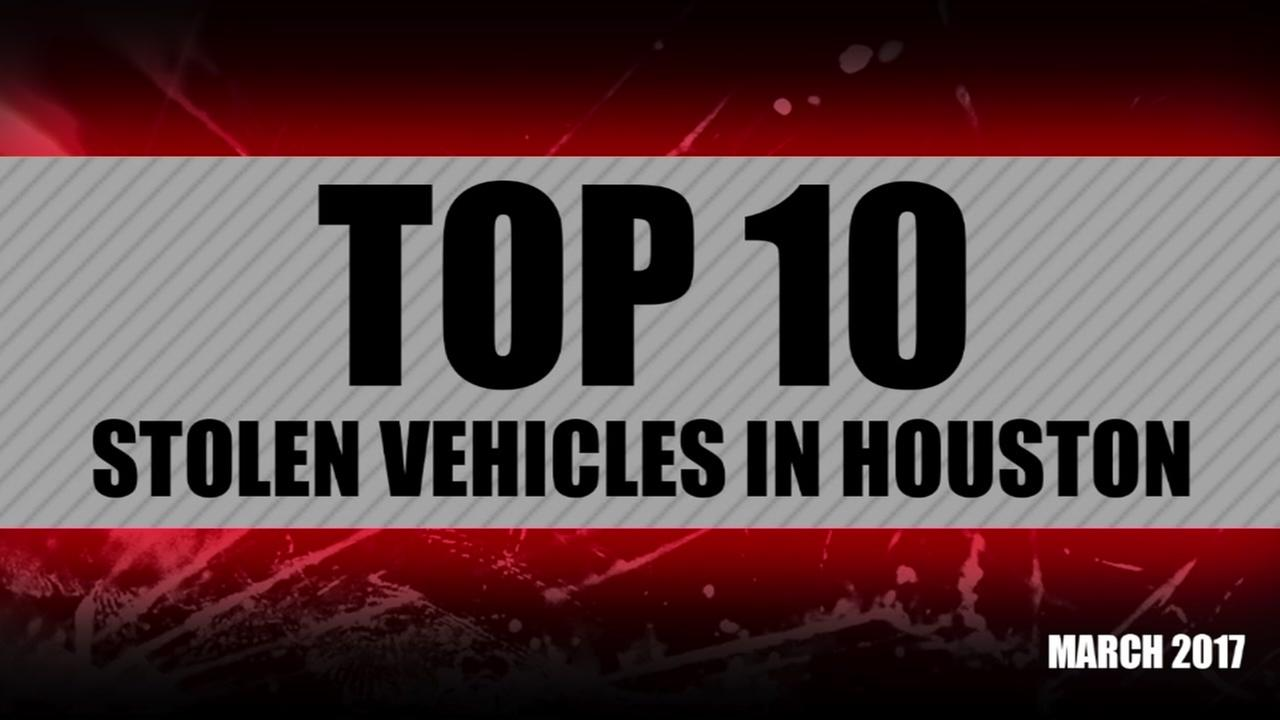Top 10 most stolen vehicles in March