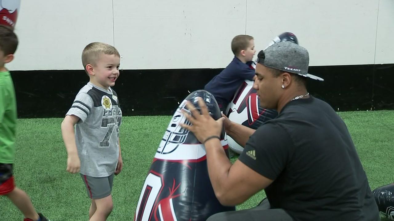 Christian Covington enjoys time with the Sunshine Kids
