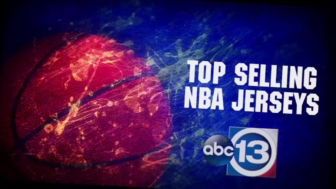 Top 10 selling NBA jerseys