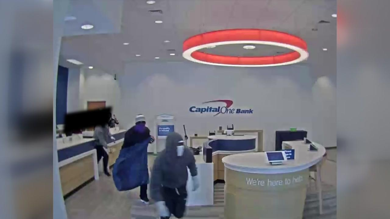 Masked men rob bank in west Houston