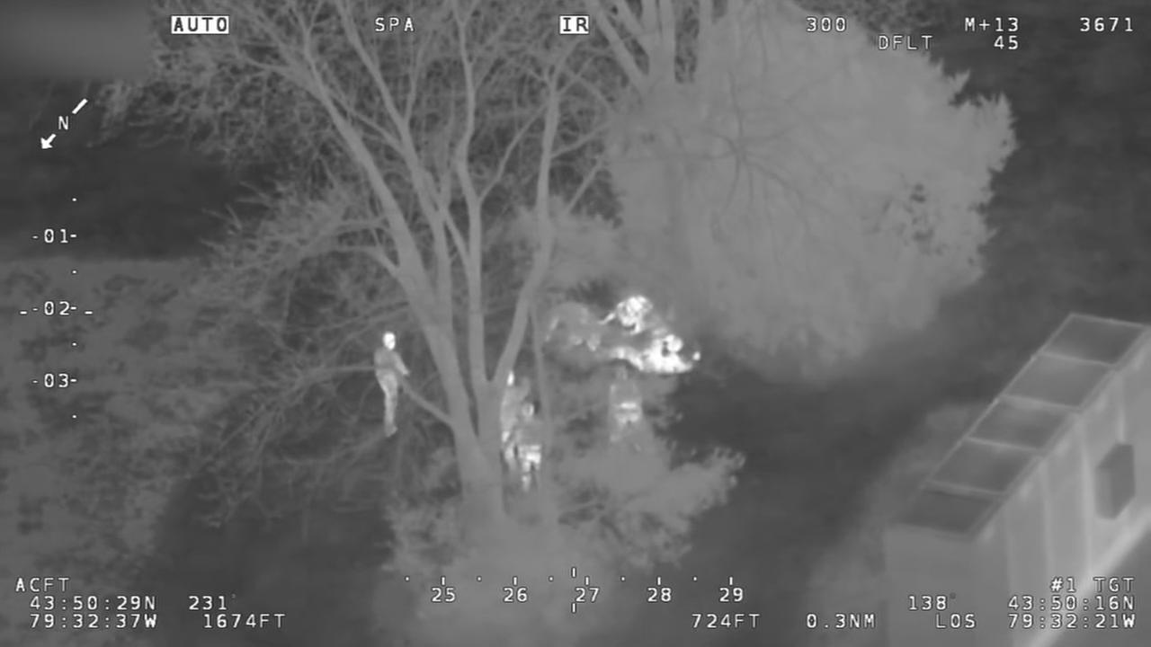 Infrared camera used to catch candy store thieves.