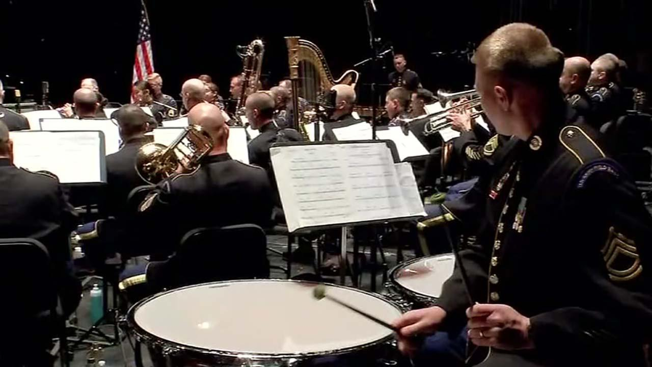 U.S. Army Field Band performs at Miller Outdoor Theatre