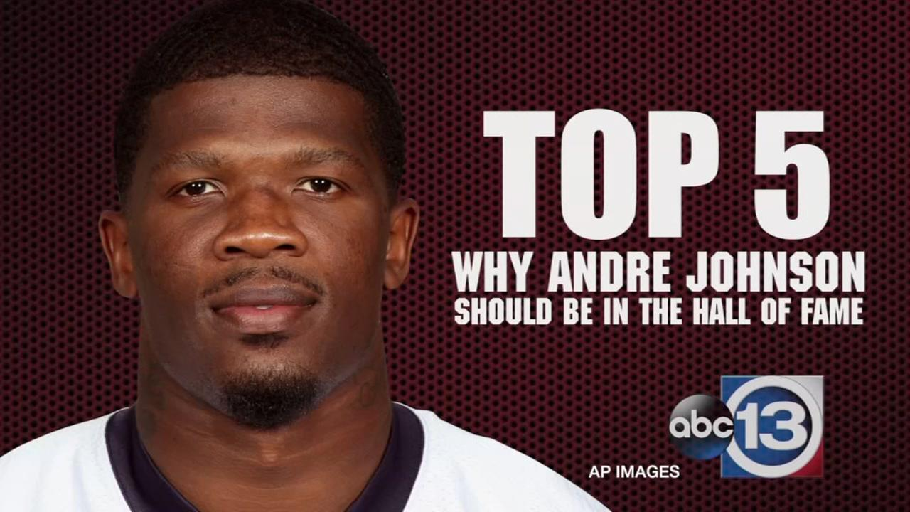 Top five reasons why Andre Johnson should be in the Hall of Fame.
