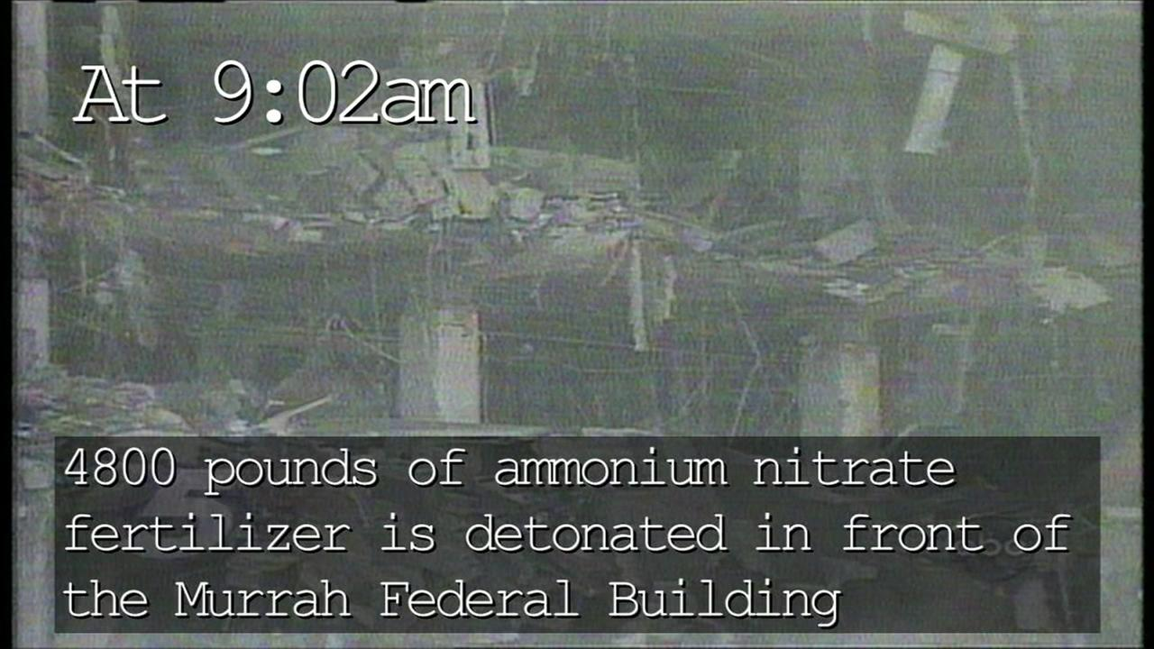 April 19th 1995, a bomb explodes in front of the Murrah Federal Building in Oklahoma City