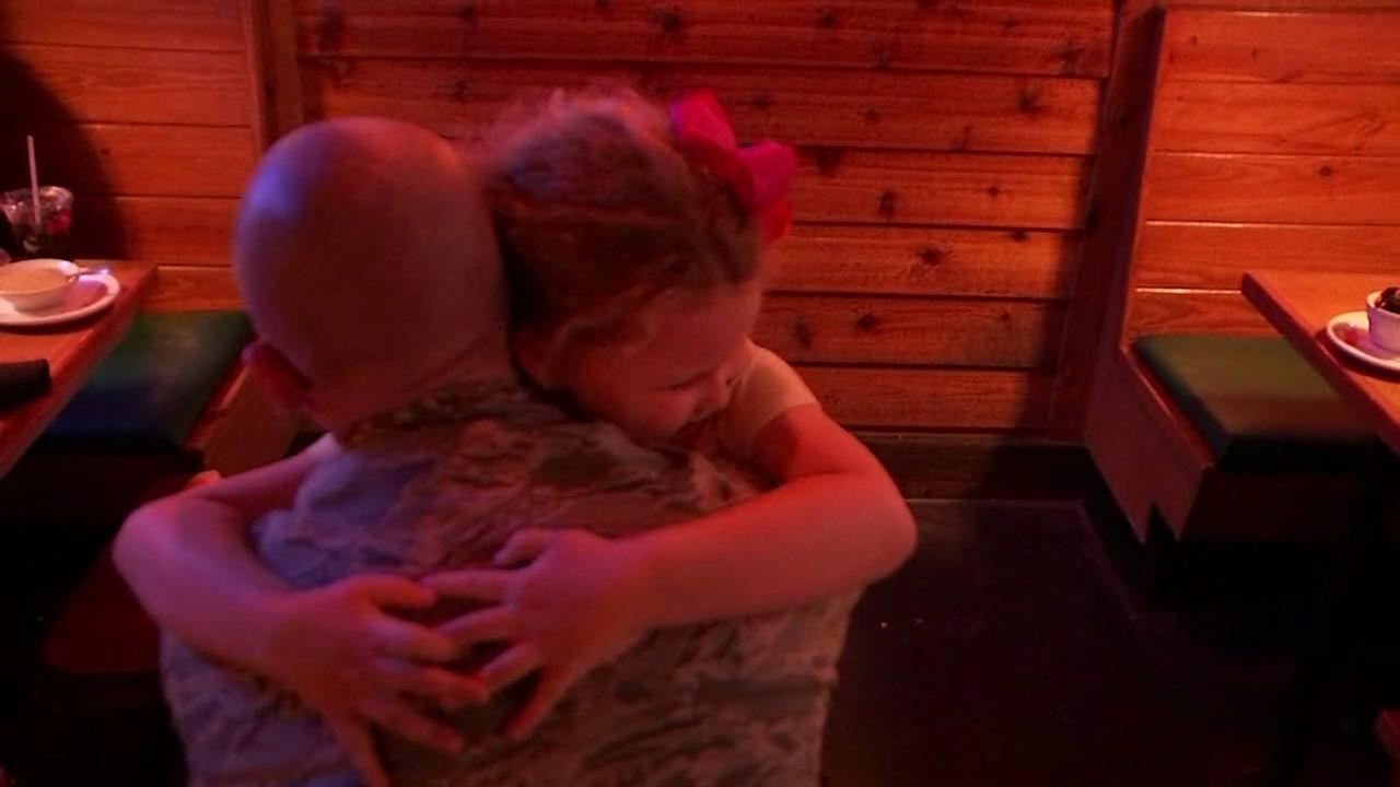 Air Force dad surprises children with homecoming