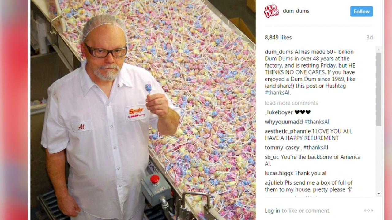 Sweet tribute for Dum Dums worker