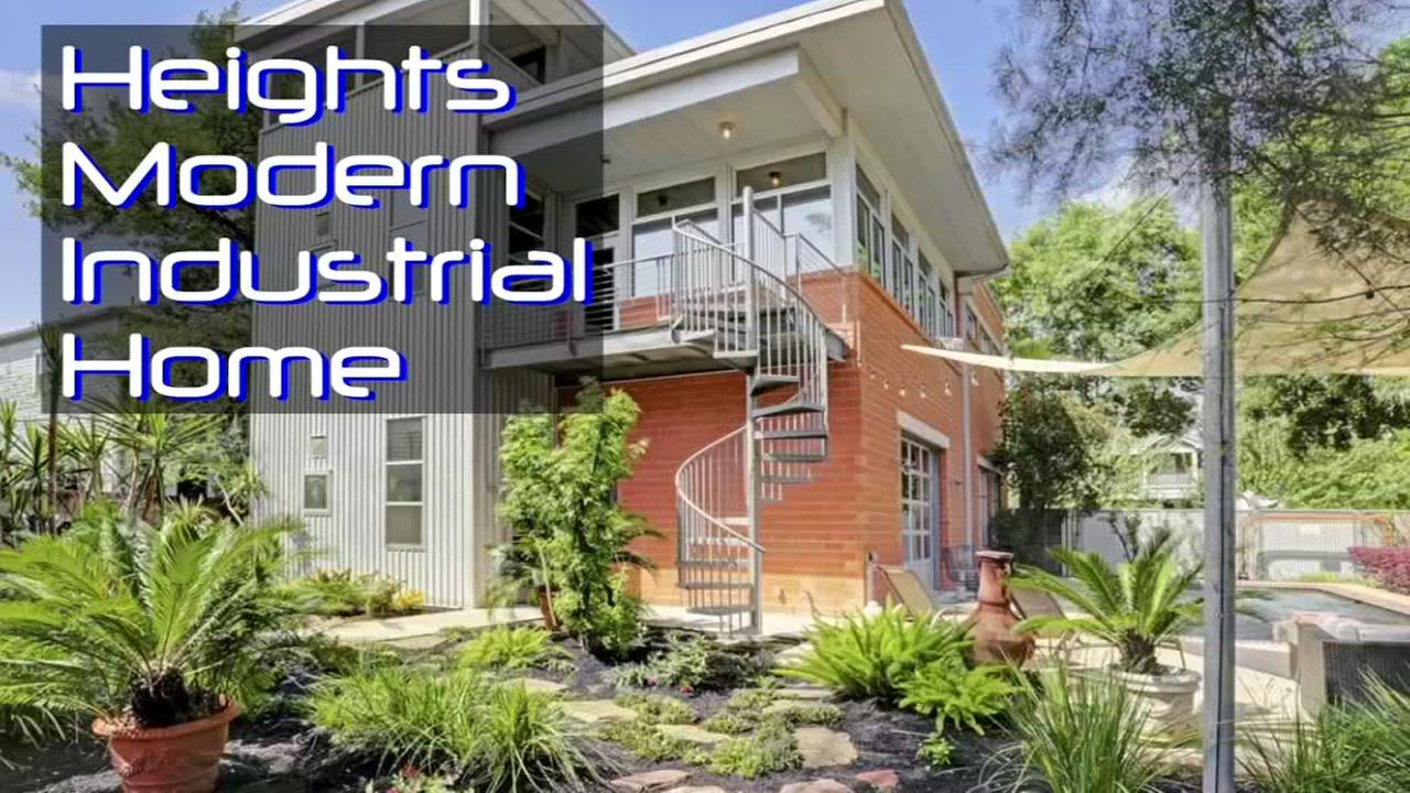 Check out this cool modern-industrial home in the heights