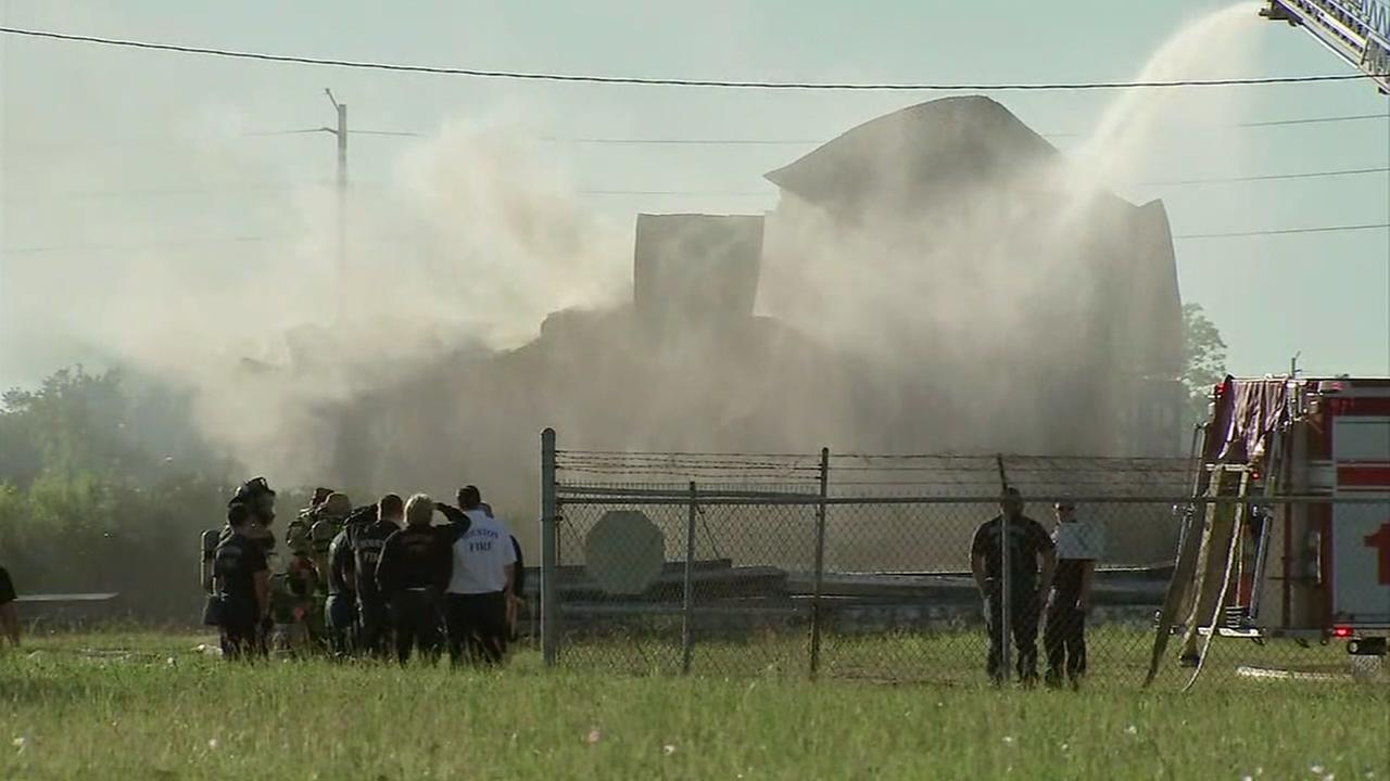 Explosion and fire on train near downtown Houston