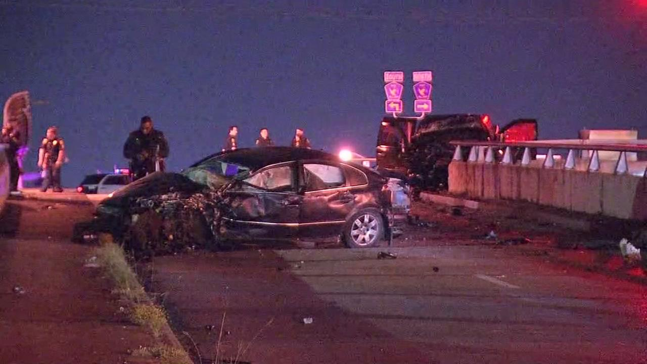 Deadly accident at Little Tork and Hardy Toll Road feeder road.