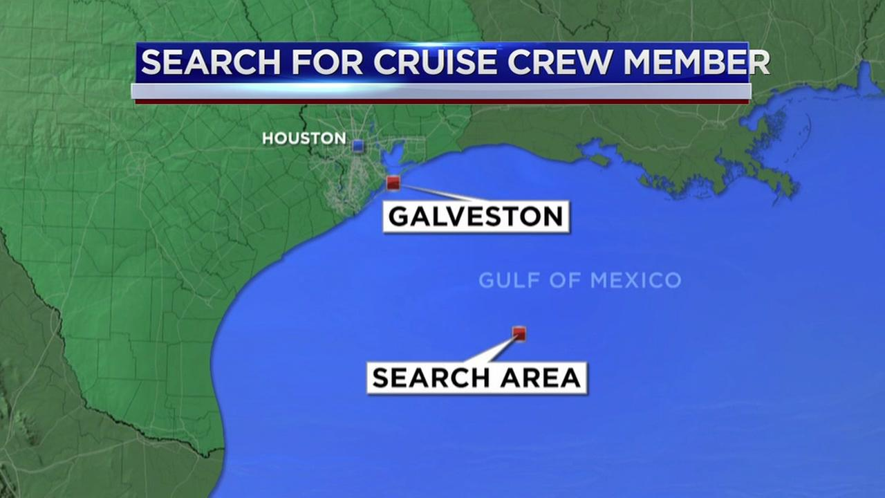 Search for missing cruise ship crew member