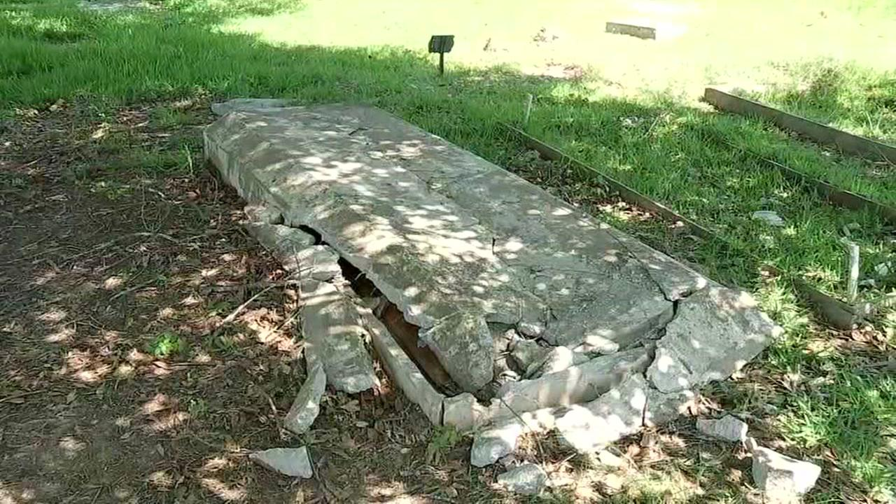 Families outraged after truck tore through cemetery