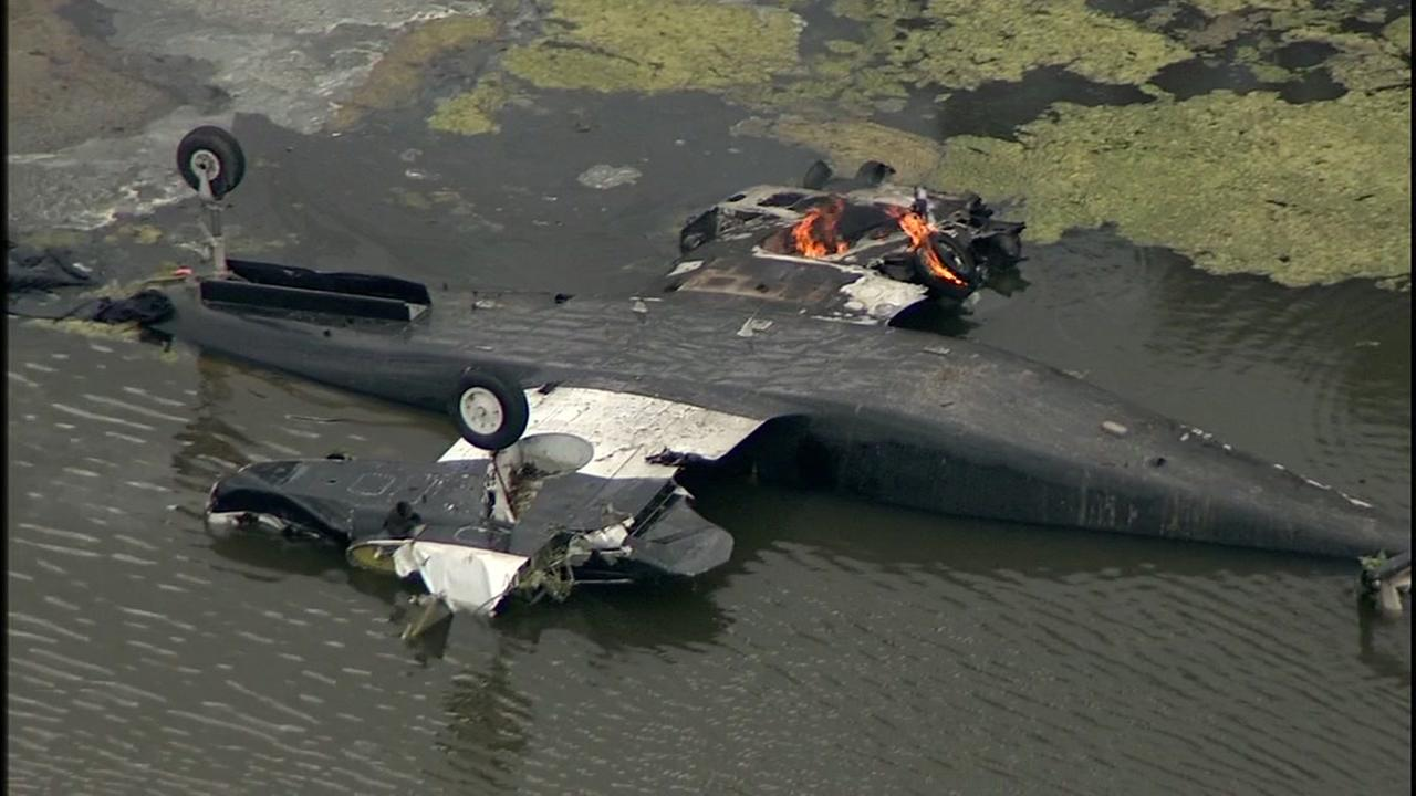 Small plane crashes into body of water