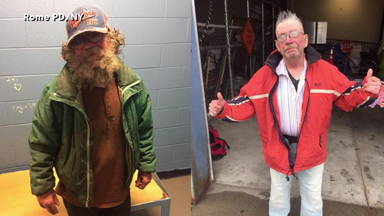 Police in Rome, New York give makeover to homeless man