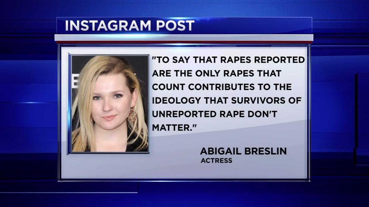 Actress Abigail Breslin comes out a a rape victim in Instagram post