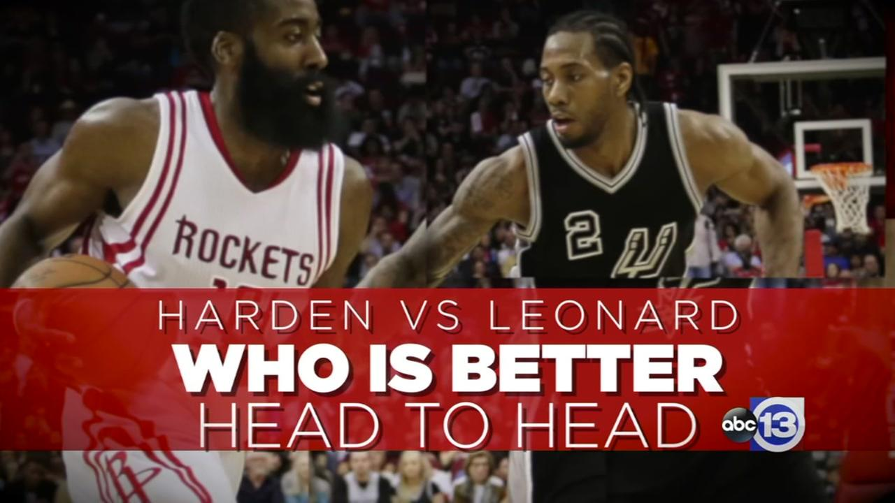A look at the matchup between James Harden and Kawhi Leonard