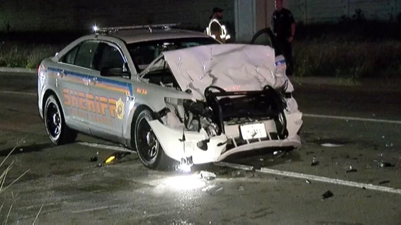 Deputies injured in 3-cruiser crash in Katy