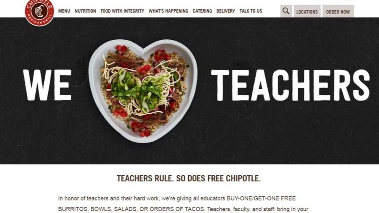 List of deals for Teacher Appreciation Week