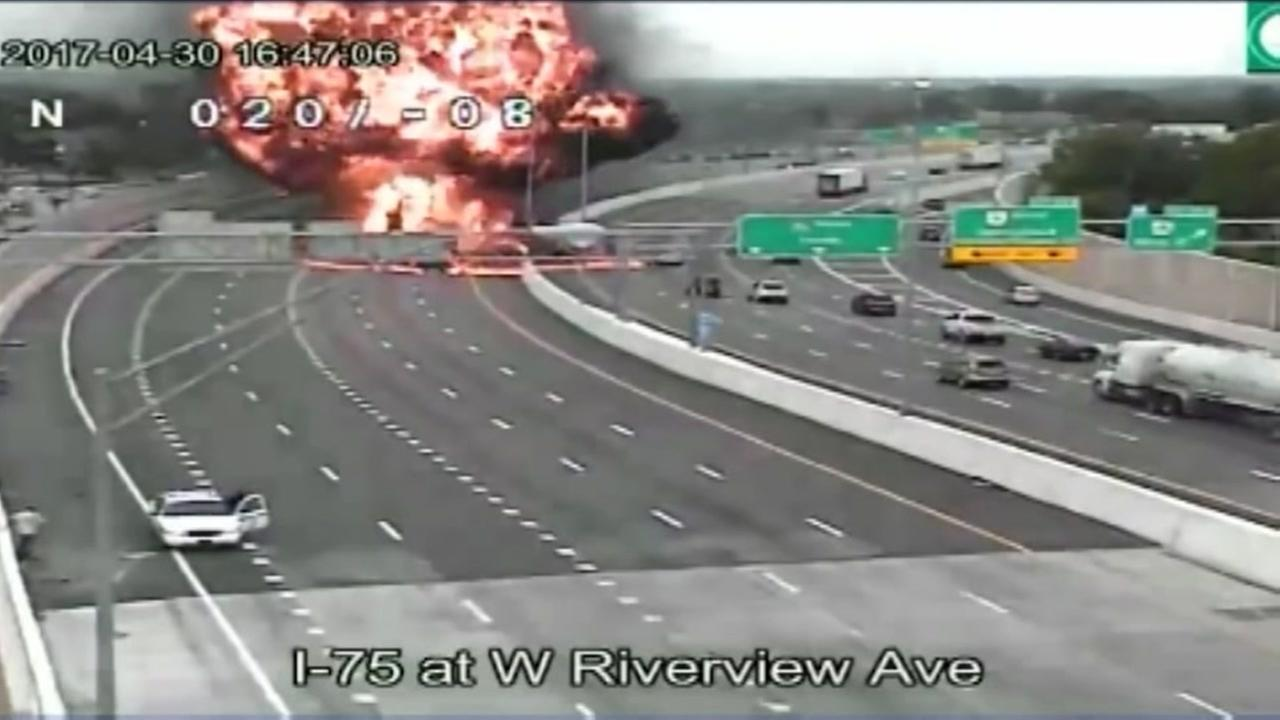 Wrong way driver causes massive highway explosion