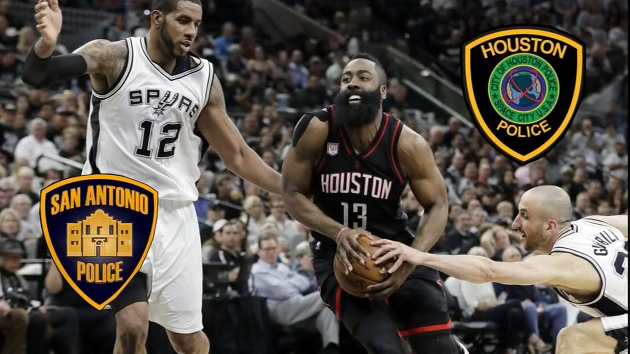 San Antonio and Houston Police Chief have friendly wager on Rockets-Spurs series