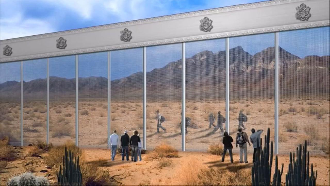 Heres what the Trump wall might look like