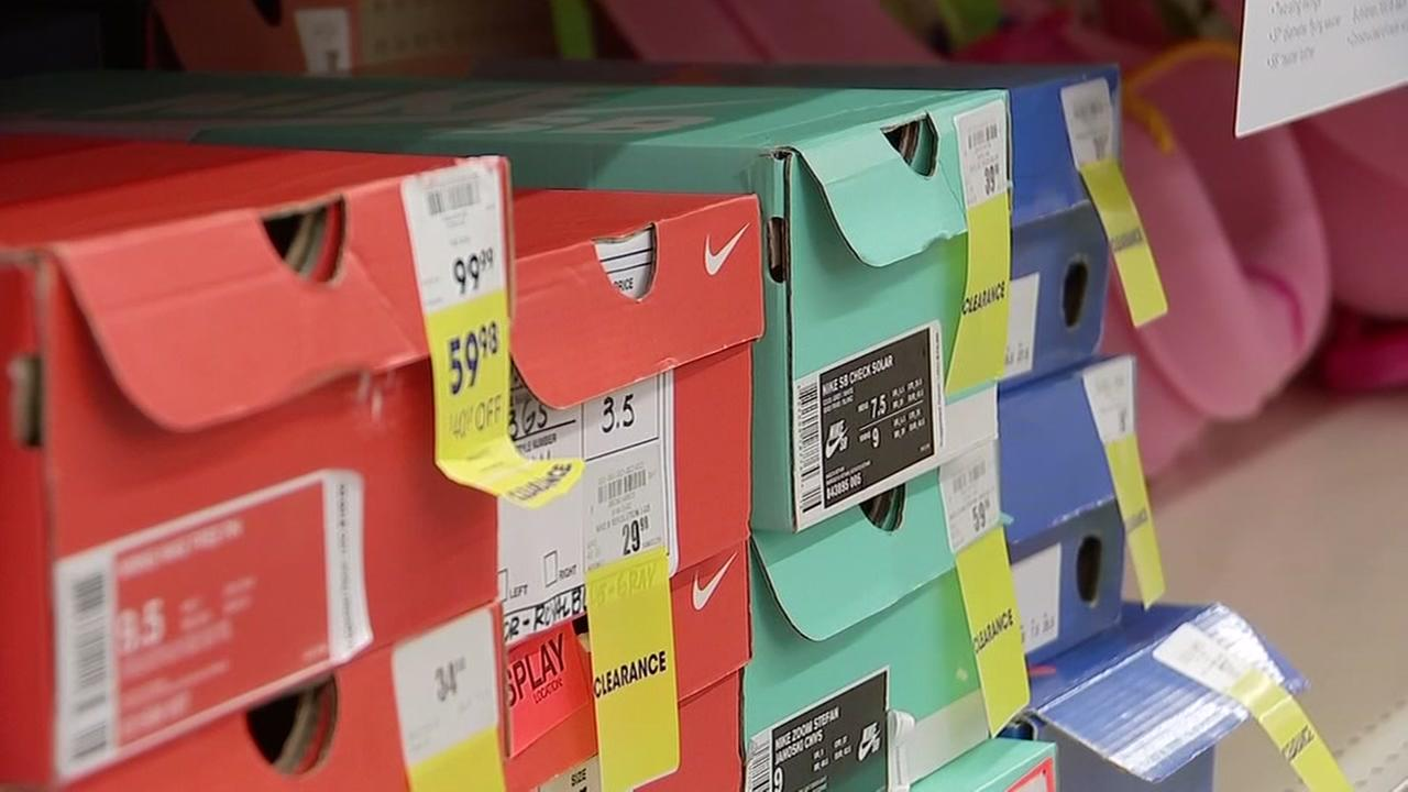 Finding the best deals on athletic shoes.