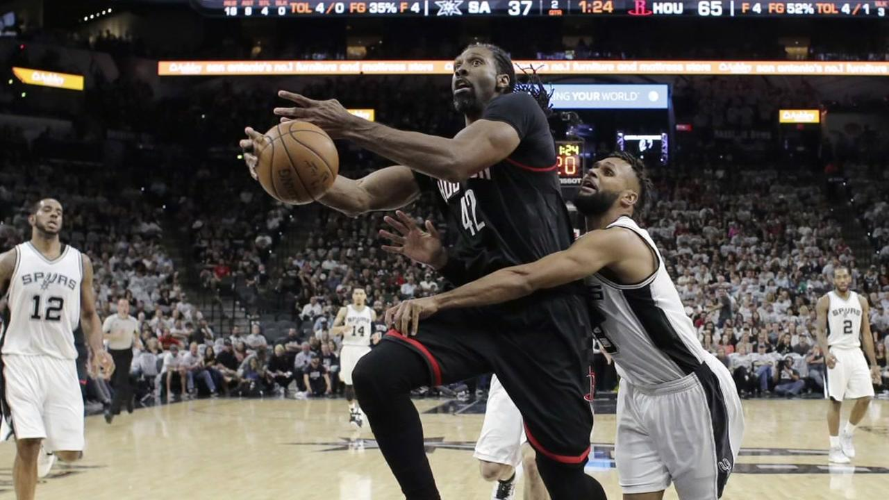 Rockets center Nene out for rest of NBA playoffs with groin injury