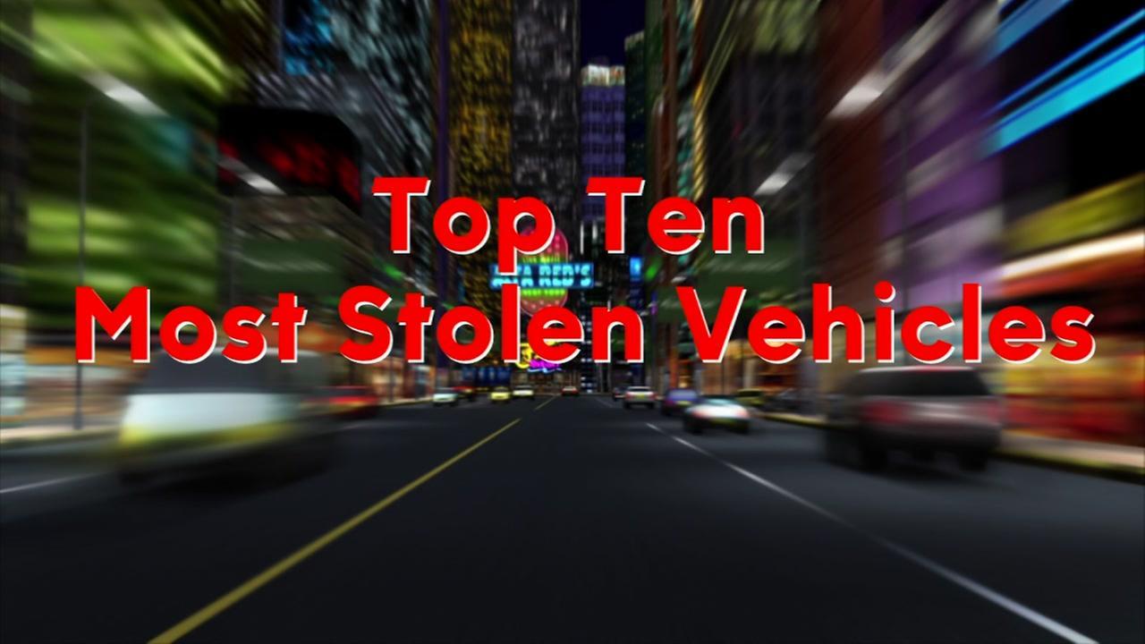 Top ten most stolen vehicles