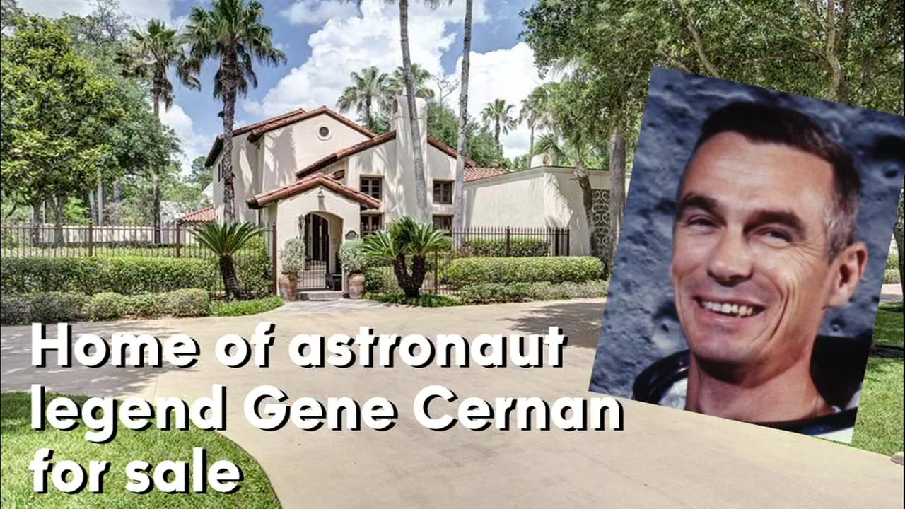 The home of the late Gene Cernan, the last man to walk on the moon, is for sale