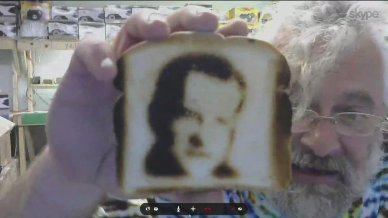 Selfies on toast