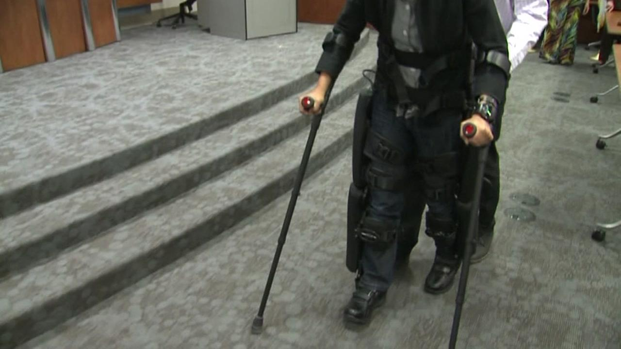 Exoskeleton helping veterans walk again