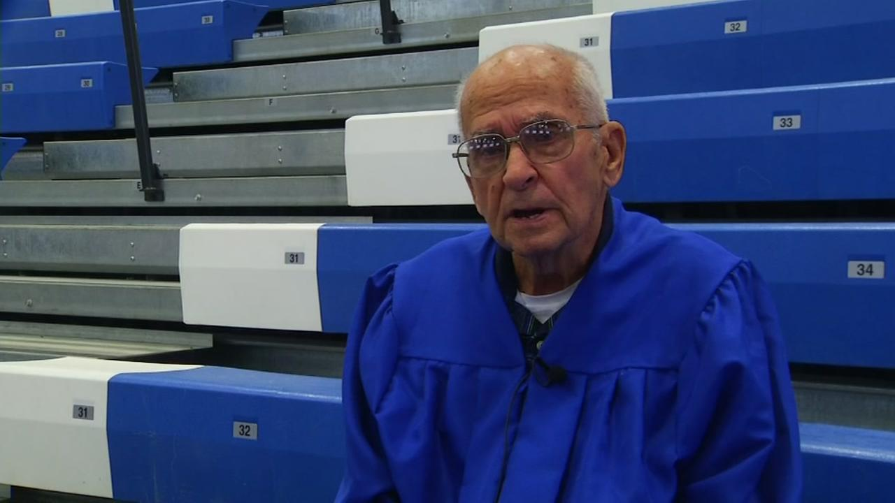 WWII veteran receives high school diploma