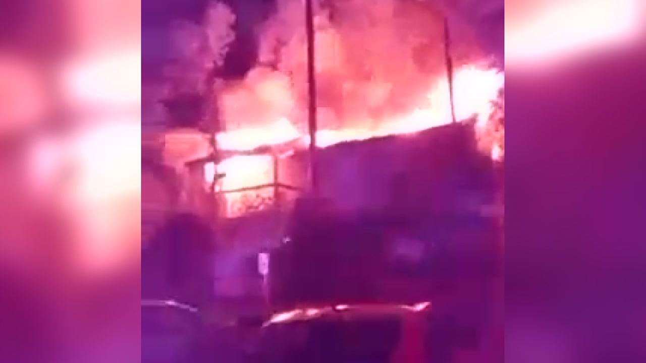 Eyewitness Video: Lightning sparks apartment fire