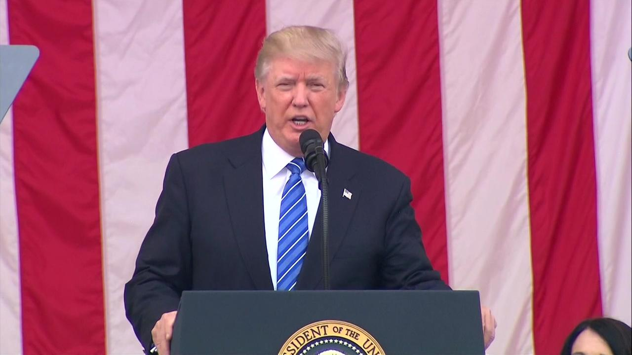 President Trump honors fallen service members and Gold Star families on Memorial Day