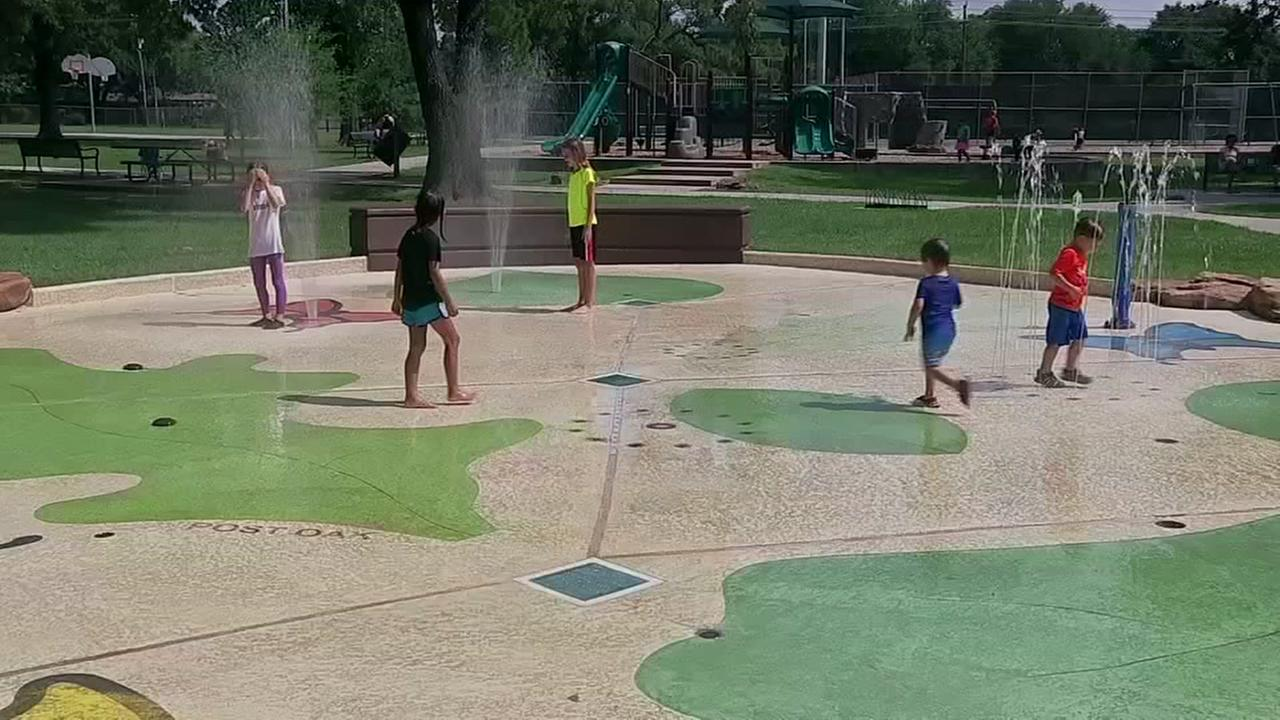 Splash pads offer gallons of free summer fun.