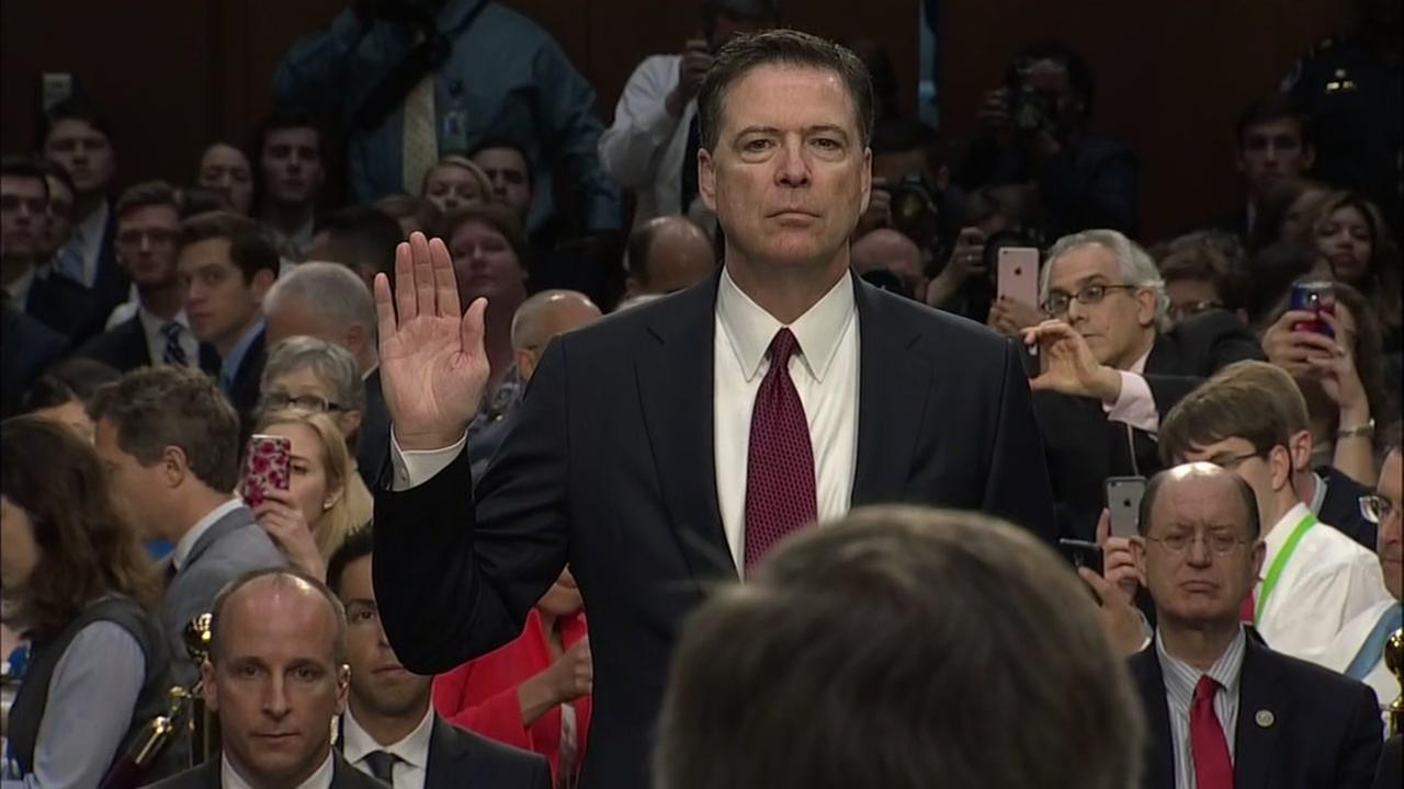Former FBI Director James Comey testifies for Senate