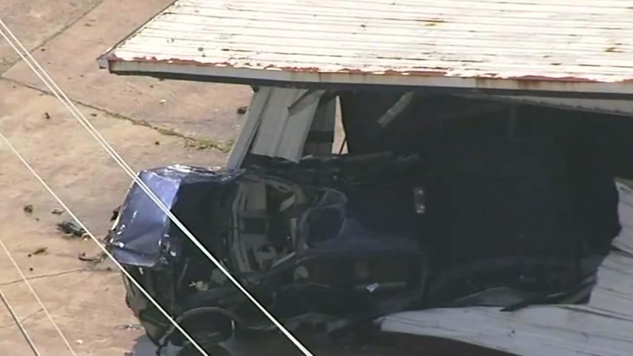 Family says medical episode caused driver to crash into warehouse