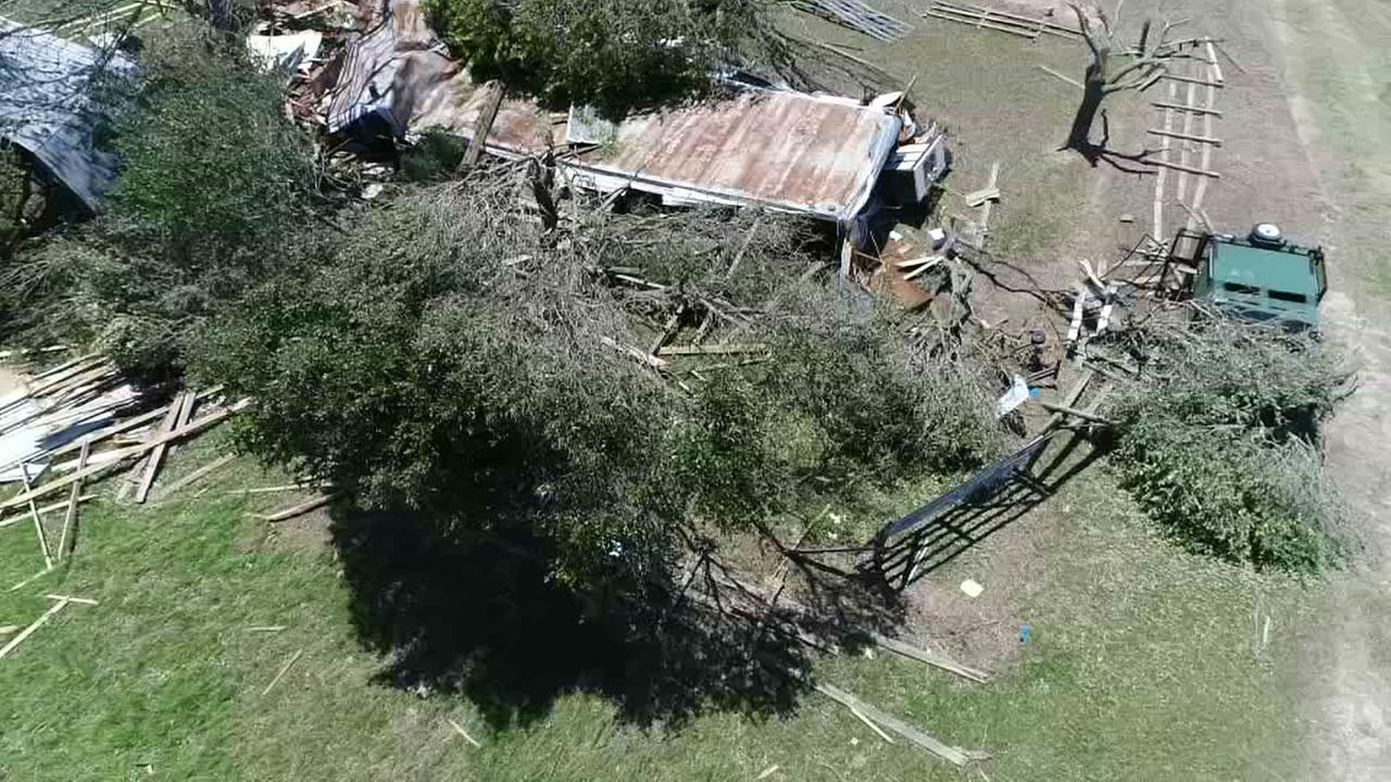 SkyDrone13 Sealy storm damage