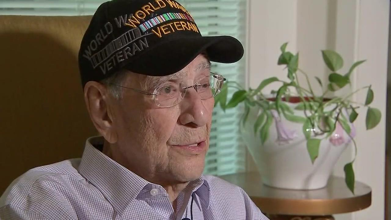WWII medals given to veteran