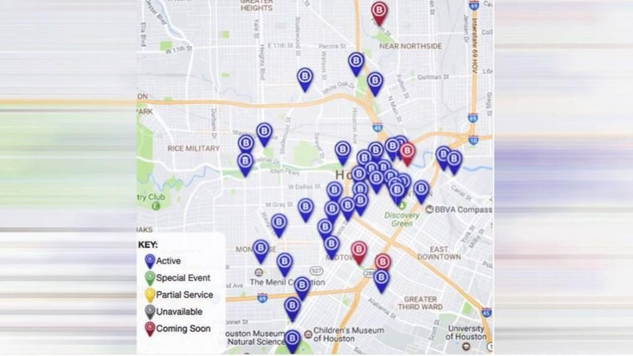 New bicycle stations in Houston