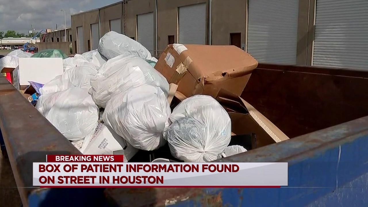 Box of patient information found on street in Houston