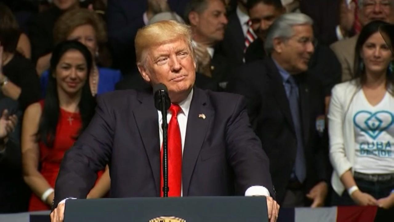 President Trump announces new US-Cuba policy