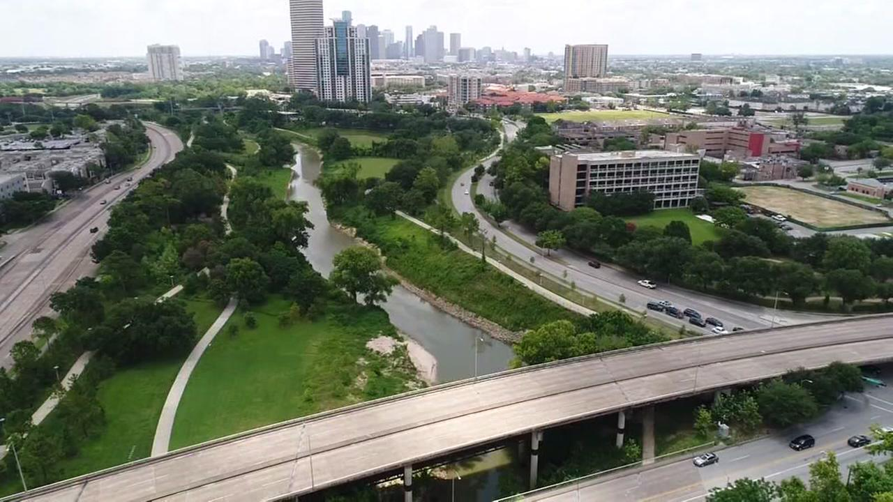 SkyDrone13 over Buffalo Bayou