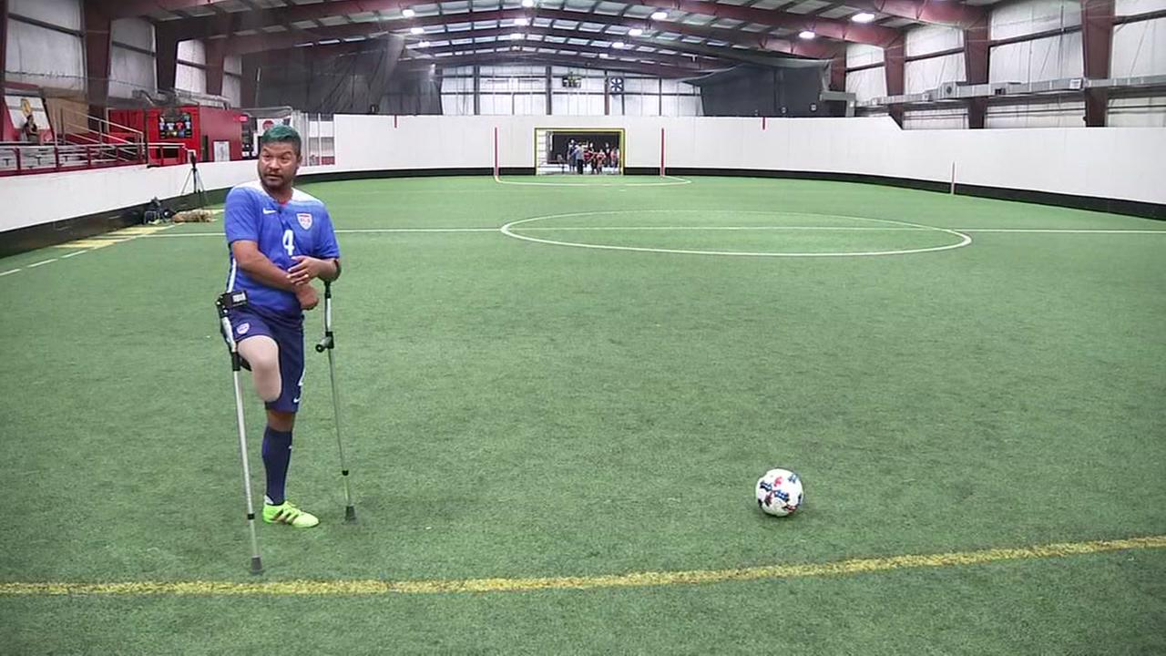 Army vet amputee keeping soccer dream alive