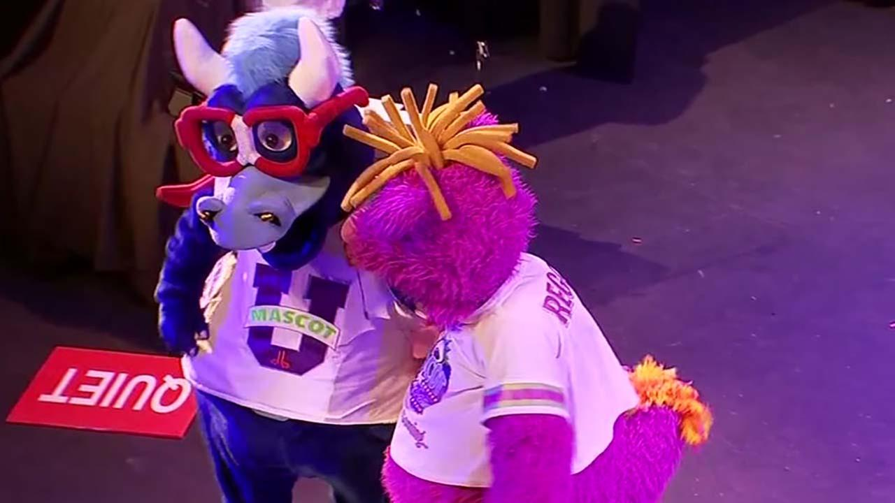 Mascots entertain children battling cancer