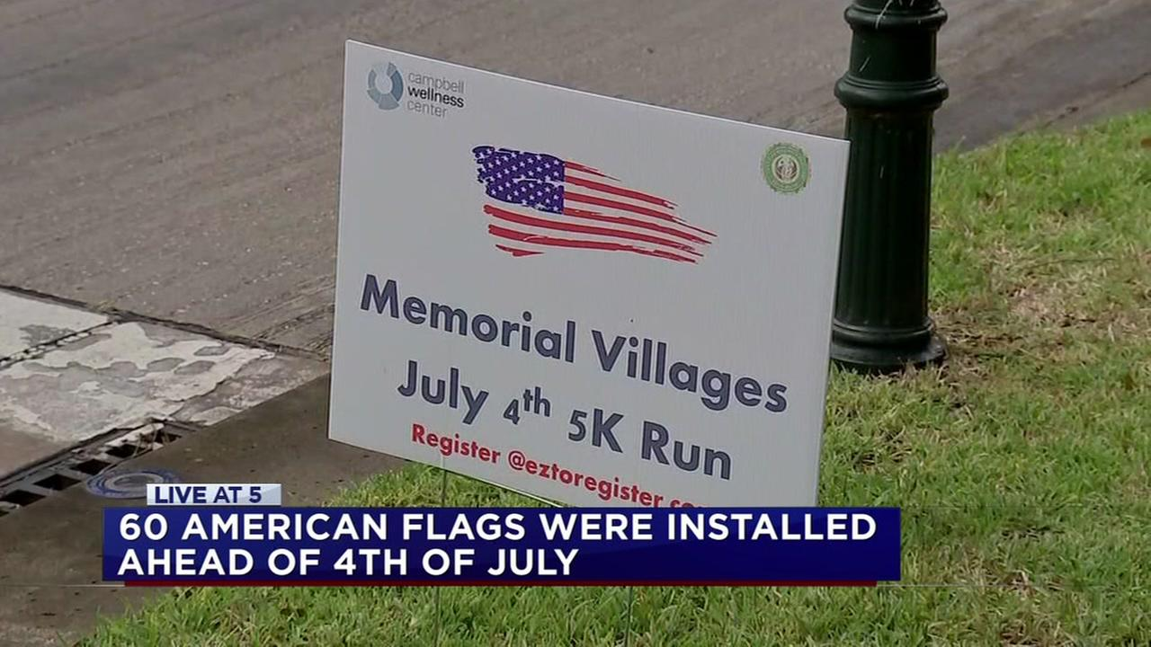 American flags vandalized along 4th of July parade route