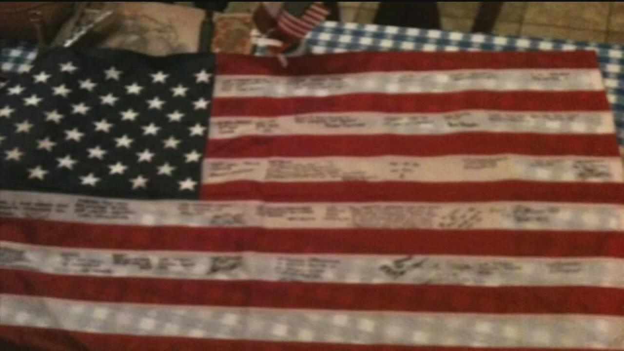 Family finds fallen Marines tribute flag, returning it to mother